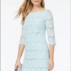 Jessica Howard Women Aqua Blue Dress Size 10P NWT